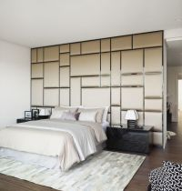 30 Modern Bedroom Design Ideas   Fabric covered walls ...