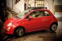 Love the retro-look of this roof rack | FIAT 500 Roof Rack ...