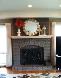 Painted fireplace also images about on pinterest brick fireplaces rh