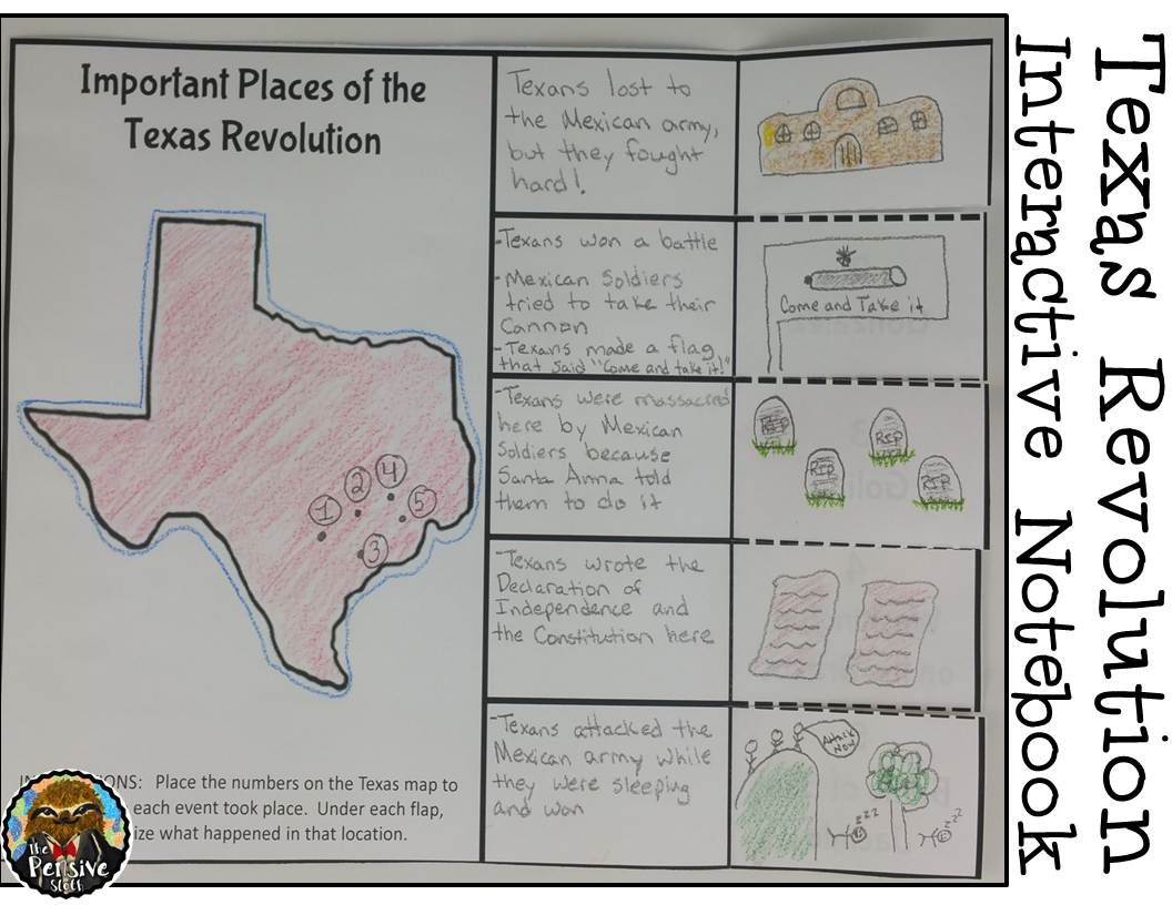4th Grade Texas Revolution Amp Alamo Interactive Notebook