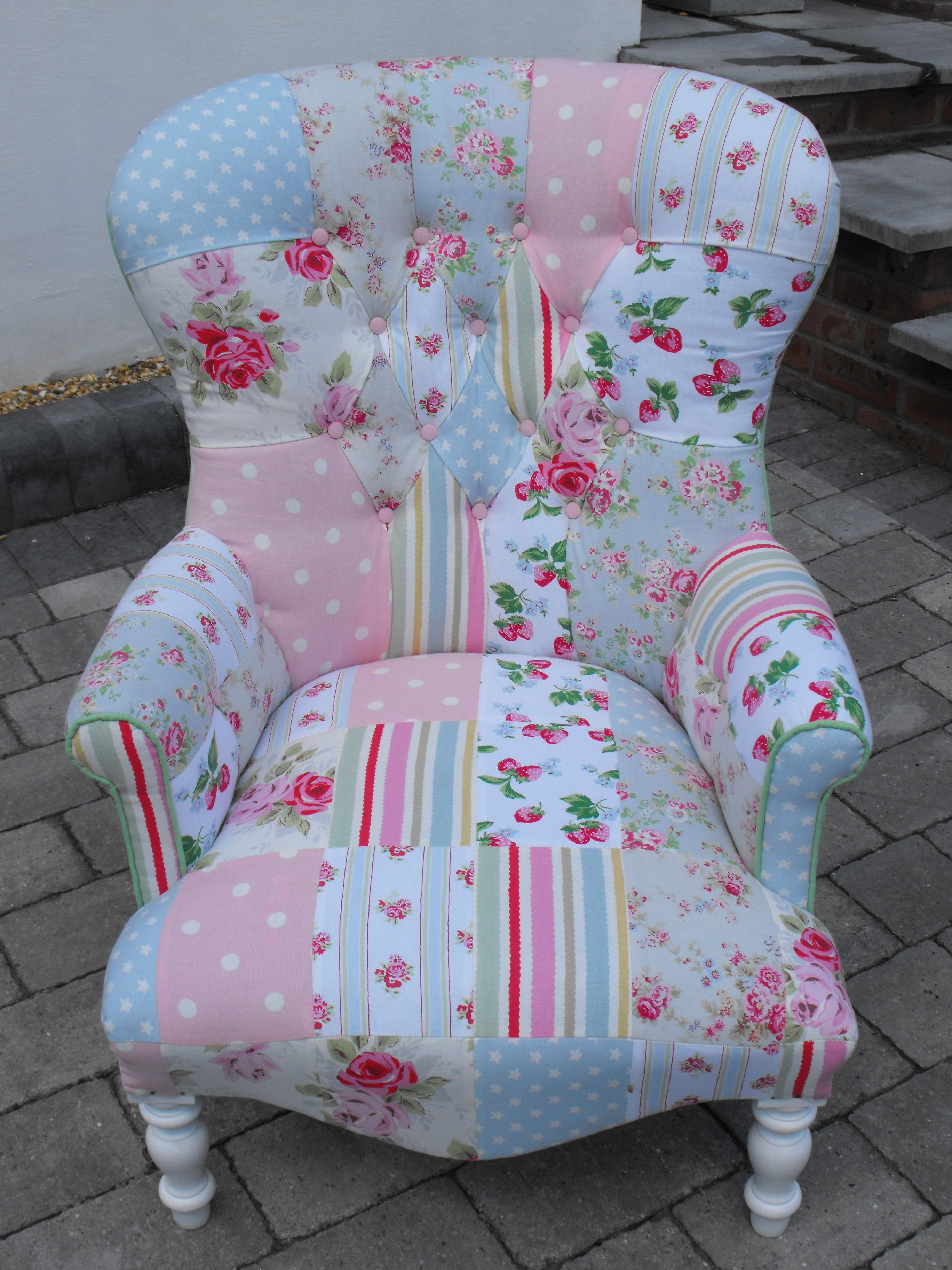 shabby chic chair small dining table and chairs a unique patchwork using cath kidston heavy weight