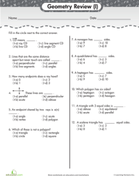 Geometry Basics: Review Quiz #1 | Worksheets, Math and ...