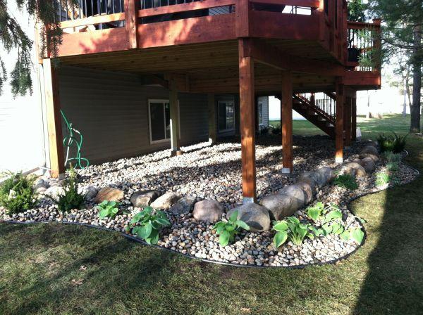 under deck landscaping