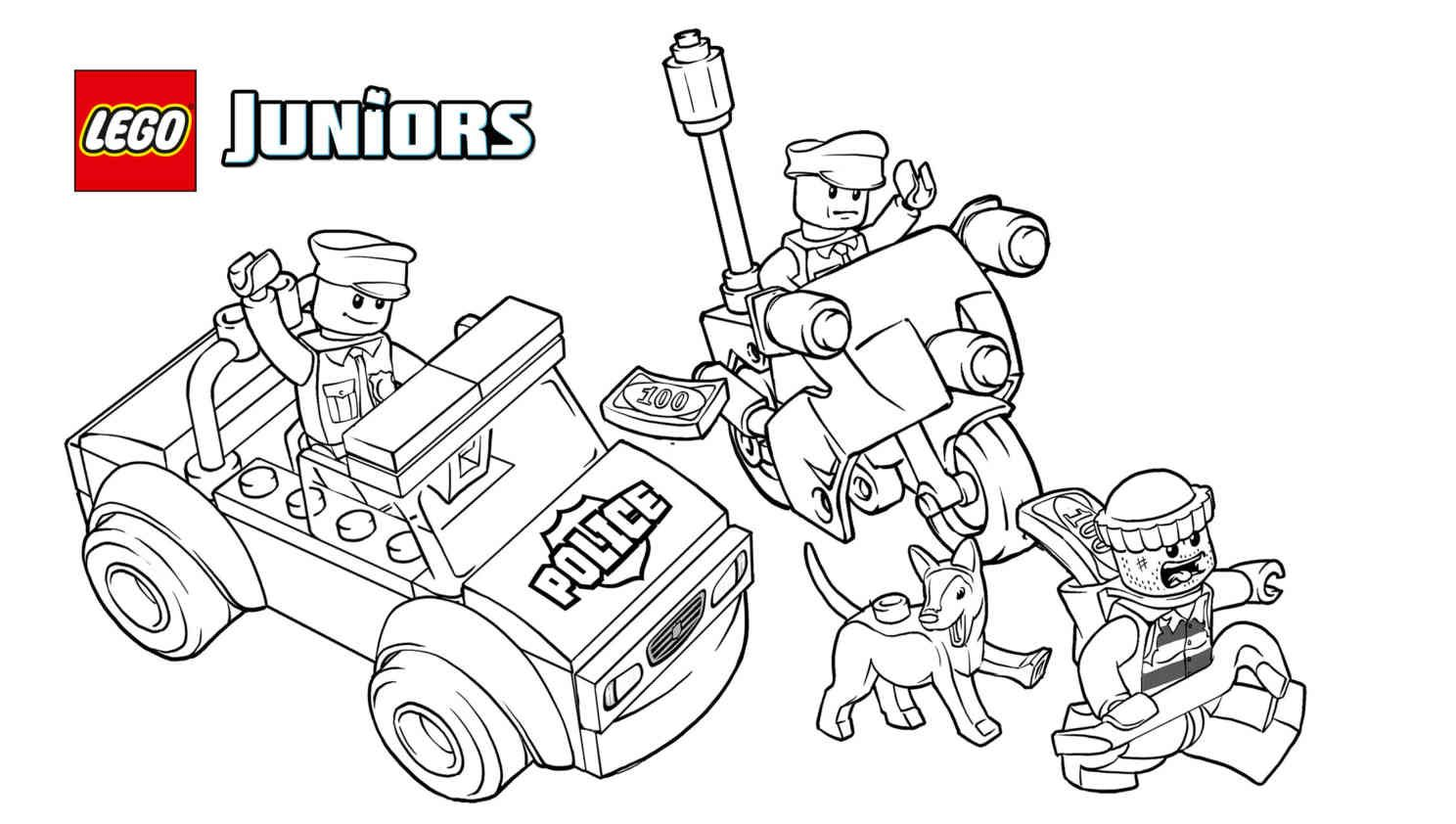 Lego Police The Big Escape 1 Coloring Sheet