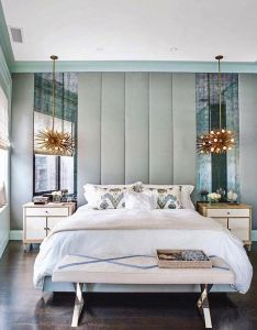 different take on  bedside lamps for the master bedroom of this home owners wanted calming room that still had touch glamour also rh pinterest