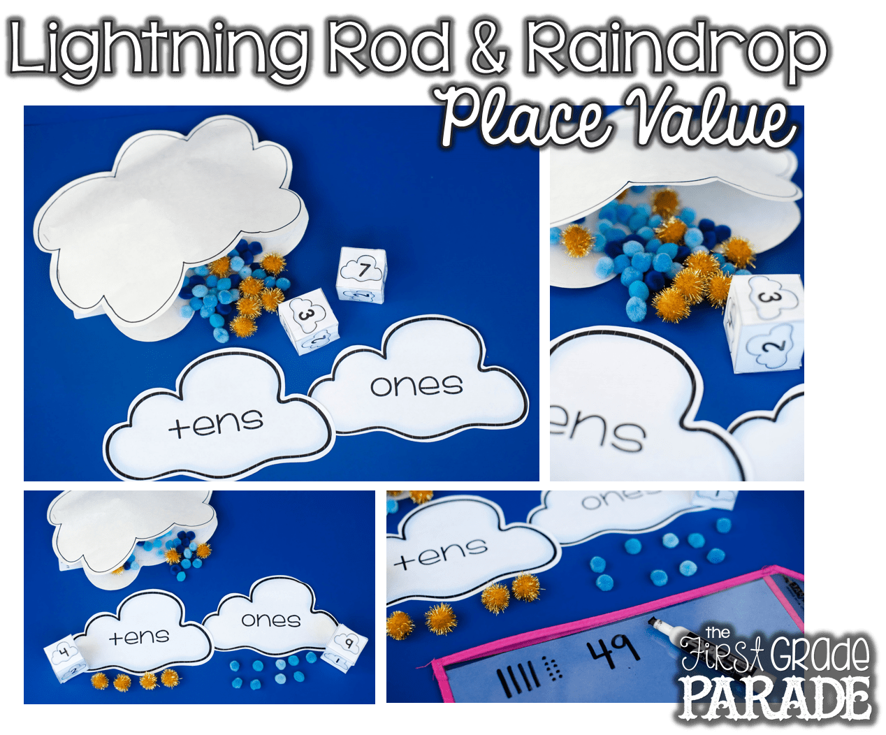 Place Value Math Games With Lighting Rods And Raindrops