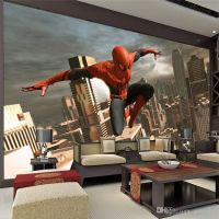SpiderMan Wall Mural Superhero Photo Wallpaper Custom 3D ...