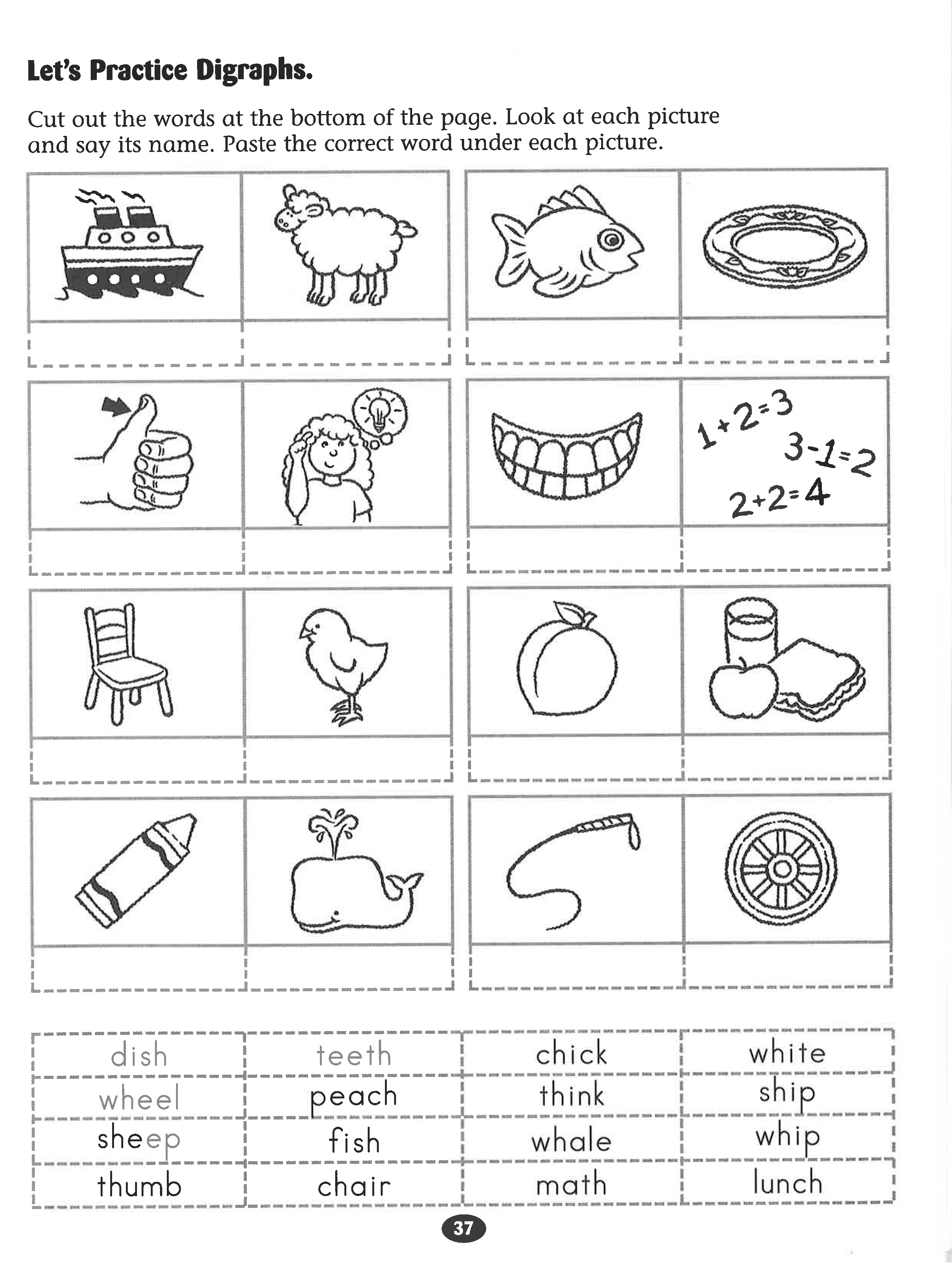 Free Printable Consonant Digraph Worksheet