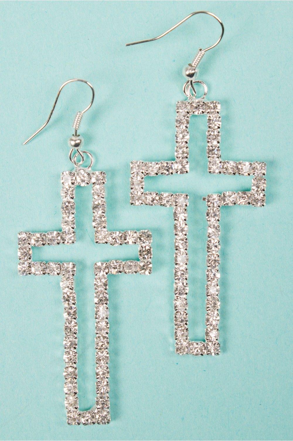 Cross Earrings on Pinterest