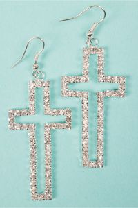 Cross Earrings on Pinterest | Diamond Cross Earrings ...