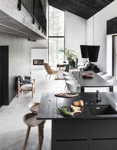 The interior of maja house is designed deko and located finland architecture also rh pinterest