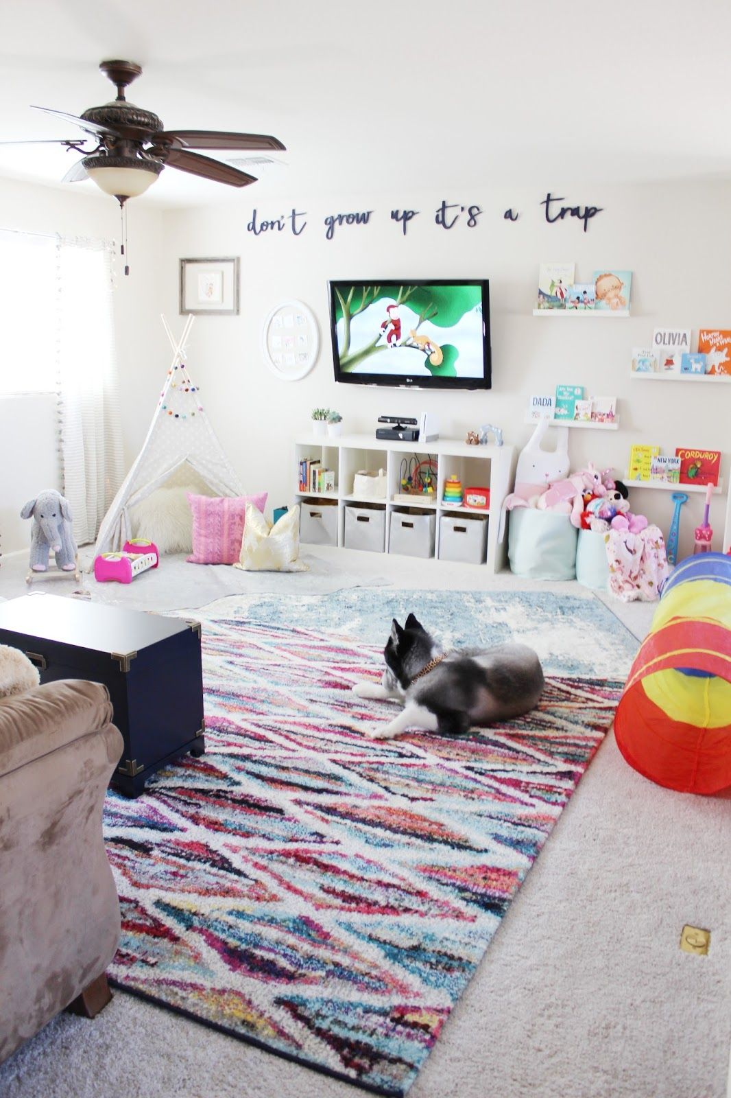 Playroom Reveal by Aubrey Kinch with Rugs USAs Tracce