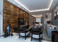 wood wall designs | Wood TV wall and wood table for ...
