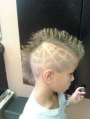 little boy haircuts with line