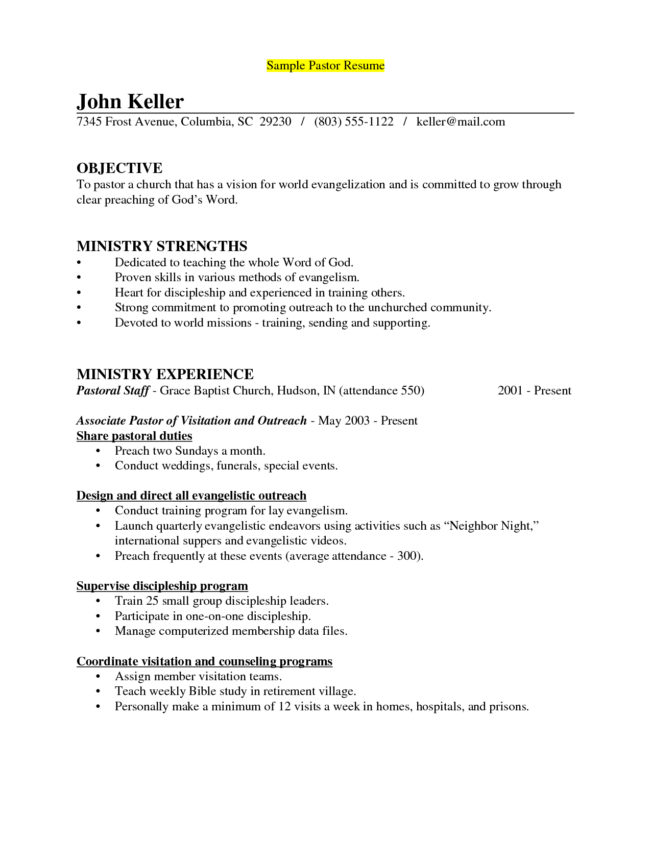 youth pastor resume samples tier brianhenry co