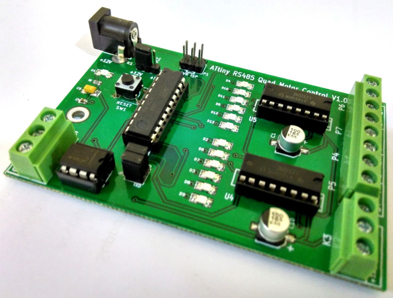Buy 600ma Motor Driver Ic L293d Circuit For Robotics Projects Avr Pic