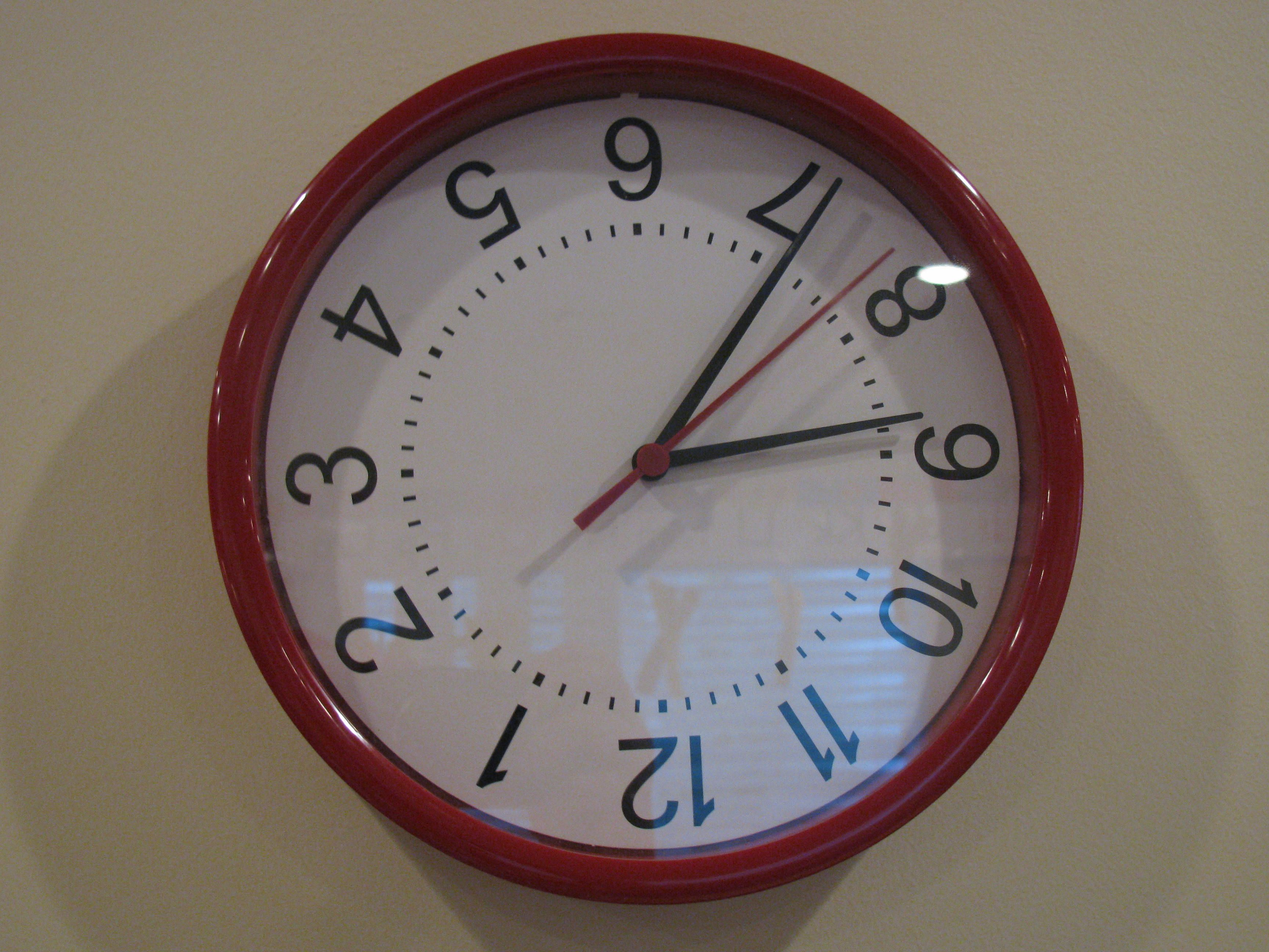 10 Wacky Wednesday Ideas Kids Count 10 Wacky Things At Sign In Books Upside Down Clock Upside