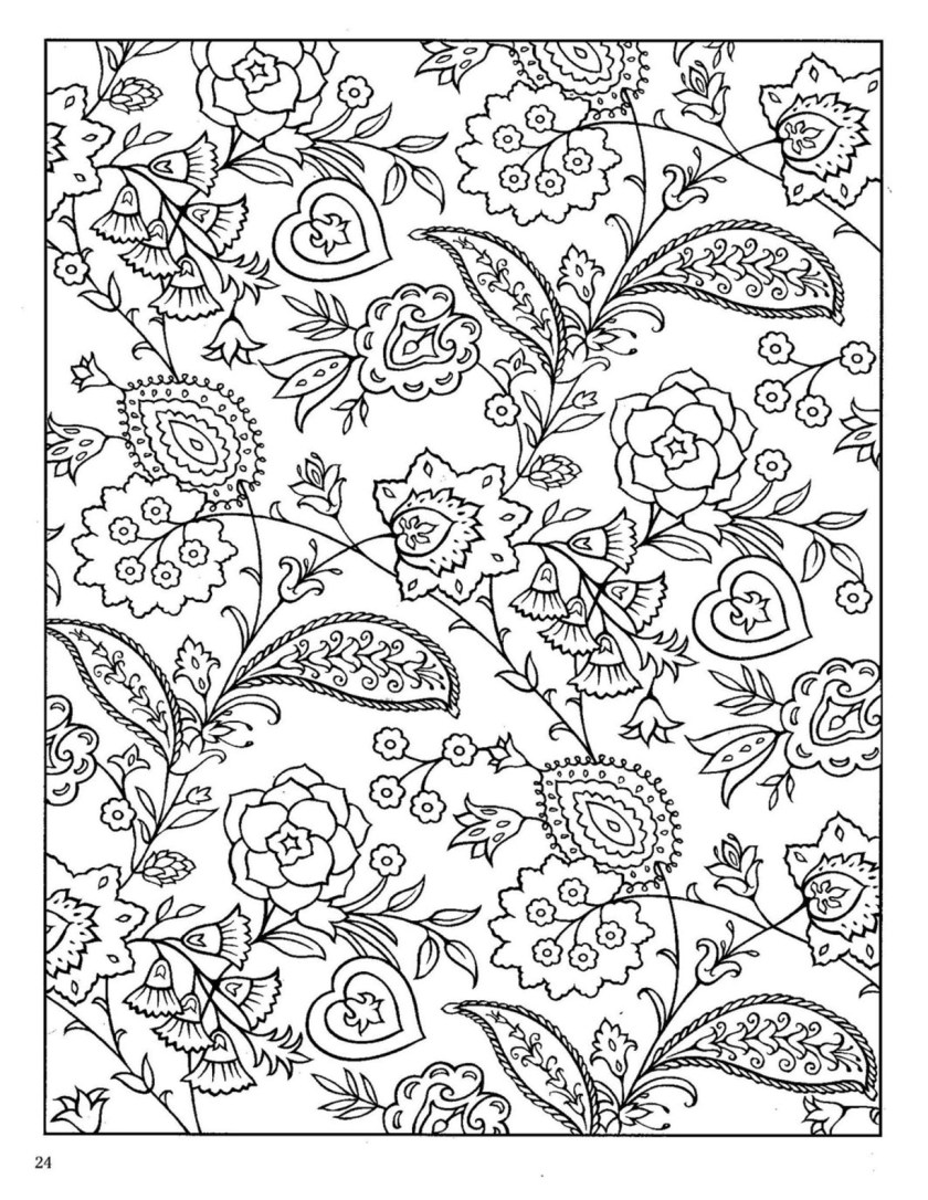 dover paisley designs coloring book  coloring pages yoo