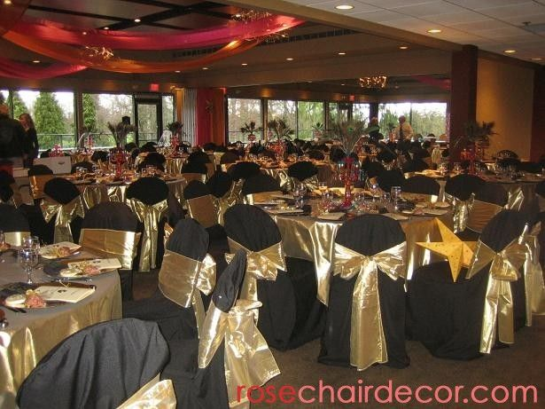 chair covers cheap rental theater chairs black table with gold | party rentals: rose music, rentals - ...
