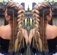 @braidsandblush Faux Mohawk and side braids! Festival hair ...