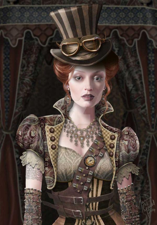 Victorian Steampunk Girls Art