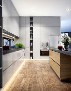 Kitchen design led strip timber flooring grey interior home lighting also lights model pinterest luxury decor and rh