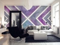 Purple X Wall mural
