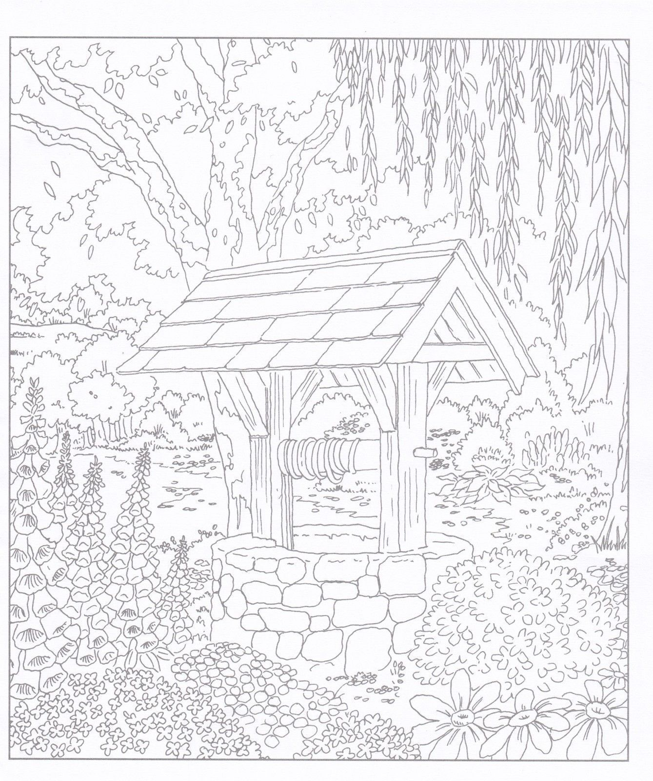 Village Life (Adult Colouring Book) (Doodle Design) New