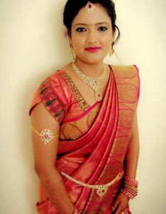 3117918bbfe970 Traditional southern indian bride wearing bridal silk saree and jewellery  muhurat look makeup also best images