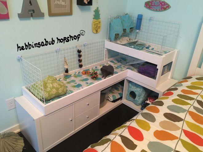 Gizmoes white palace guinea pig cage diy ikea hack base