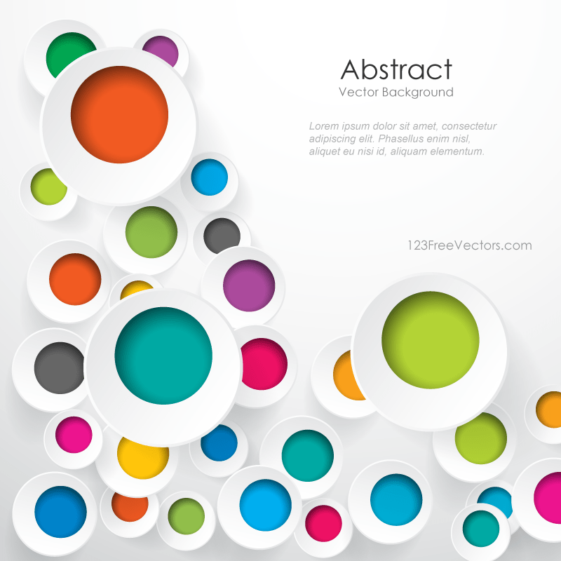 Free Download Colorful Geometric Circle Designs Background
