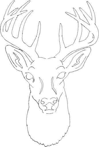 free deer head patterns  scroll saw patterns > medium