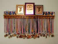 BLACK 4 Foot Award Medal Display Rack and Trophy Shelf ...