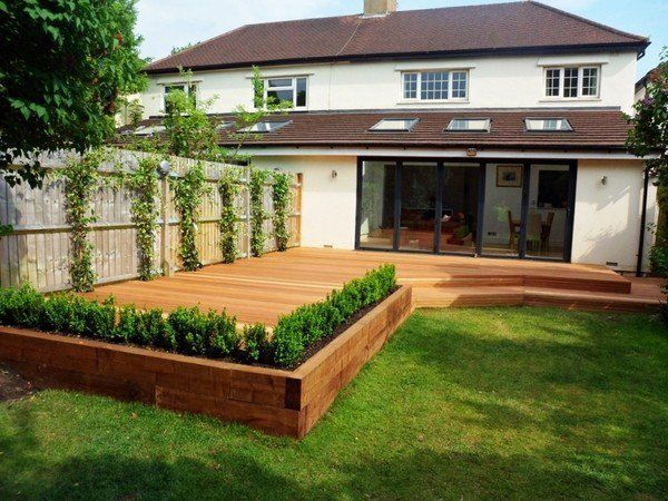 Garden Sleepers Railway Sleepers Patio Decking Ideas Garden
