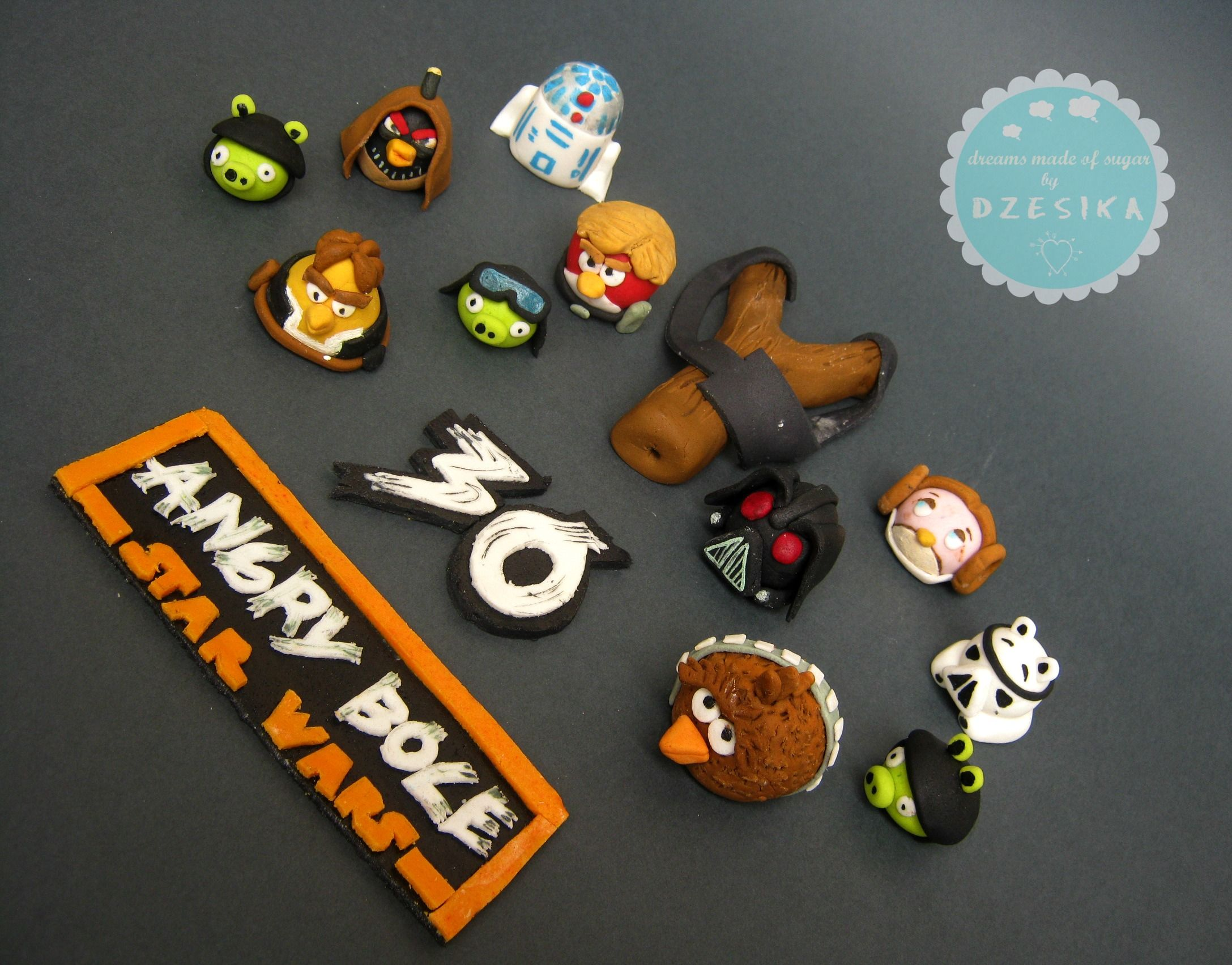 Angry Birds Star Wars Cake Topper