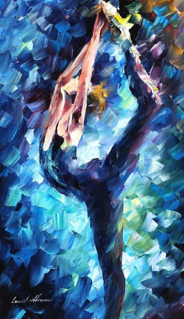 Leonid Afremov Oil Canvas Palette Knife Original