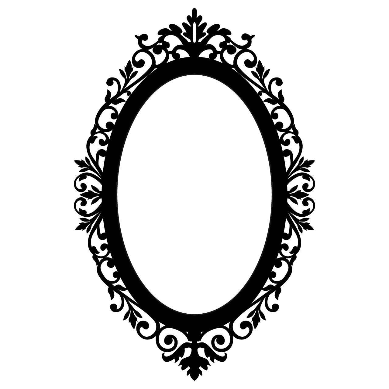 Ornate Oval Frame Wall Stickers Wall Decals