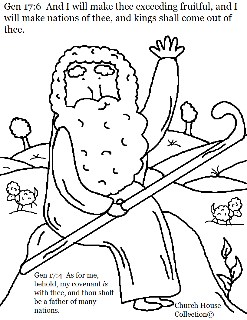 Abraham Father of Many Nations Coloring Page. Genesis 17:6