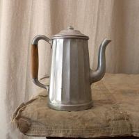 Aluminum coffee pot vintage French country kitchen decor ...