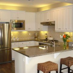 Breakfast Bar Kitchen Hands Free Faucet Traditional With Hardwood Floors