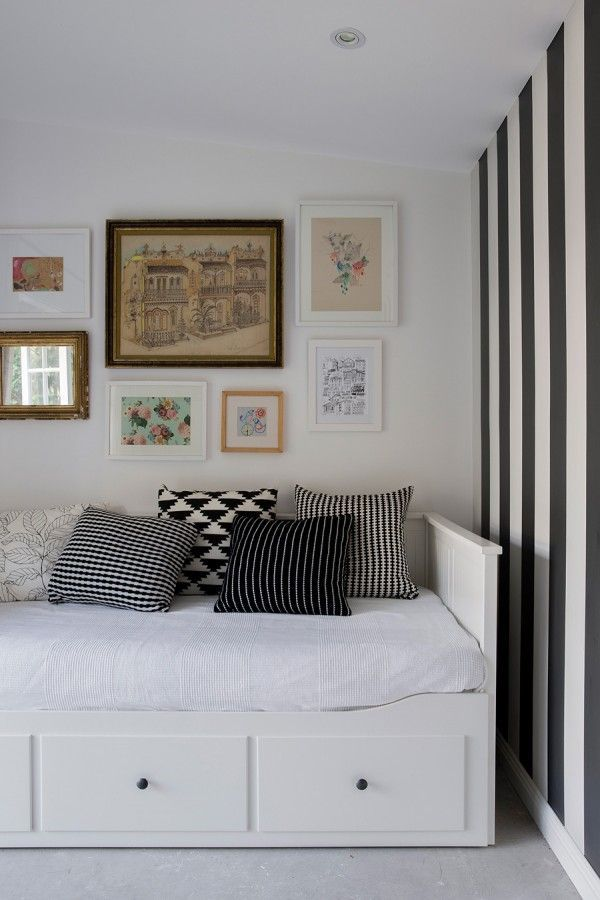 behind the sofa table bed second hand ikea hemnes | kid's room pinterest hemnes, guest ...