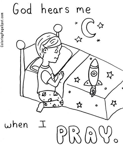 Children Praying Coloring Pages Children Praying Coloring