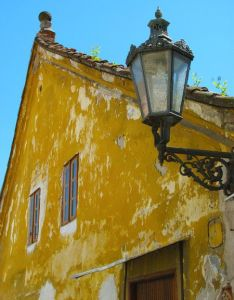 Colour  decay old yellow painted house also doors windows archite rh za pinterest