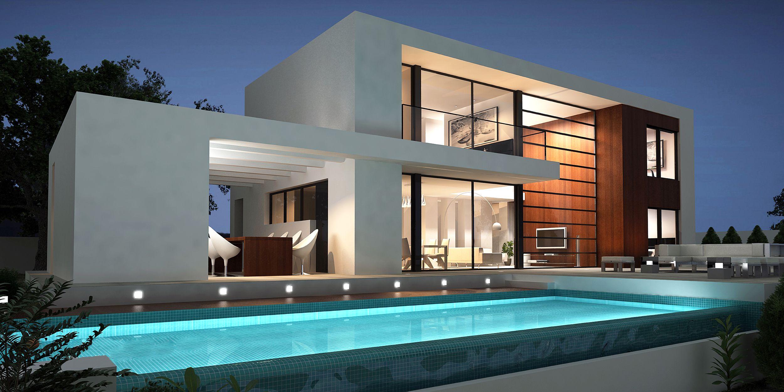 villa modern  GoogleSuche  Modern Architecture  Pinterest  Architecture Villas and House