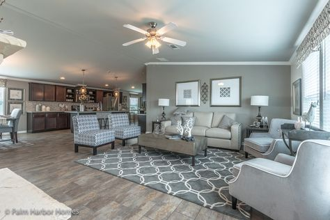 This Efficient Open Living Area In Palm Harbor La Sierra Manufactured Home  Is Perfect For Daily