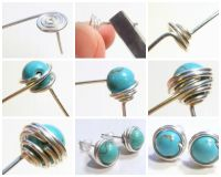 Free DIY: How to Wire Wrapped Bead Stud Earrings! See step ...