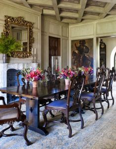 Home was furnished with  mix of antiques and contemporary piecesed the dining room   antique woodbest interior designdining also pieces rh pinterest