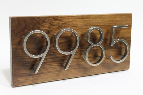 House Numbers Contemporary Number Sign Modern