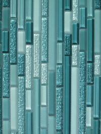 turquoise glass tilw | Aqua Horizontal Mosaic Glass Tile ...