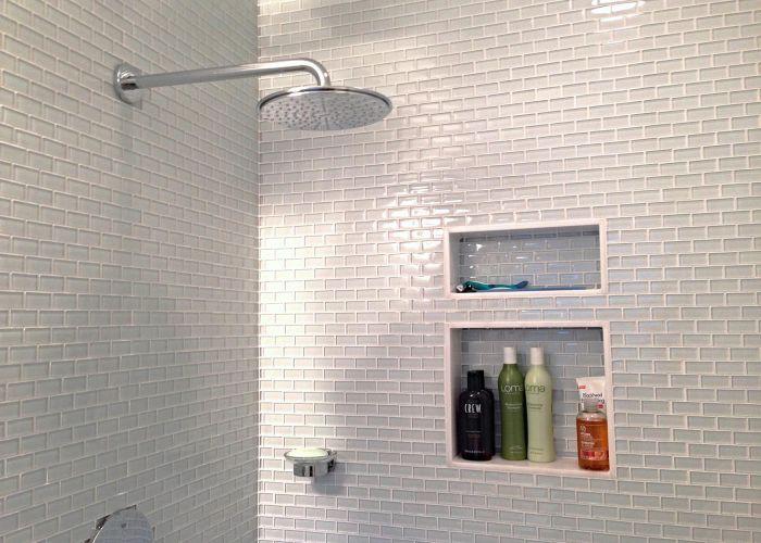 Superior tile bathroom backsplash white subway shower with glass also